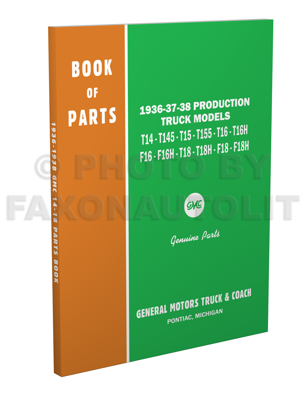 1936-1938 GMC Mechanical Parts Book Reprint
