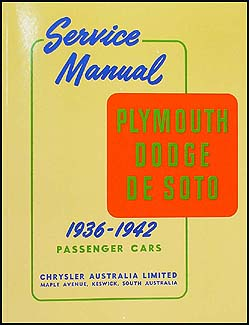 1936-1942 EXPORT Dodge Plymouth DeSoto Repair Manual Reprint