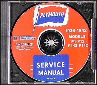 1936-1942 Plymouth CD-ROM Repair Shop Manual