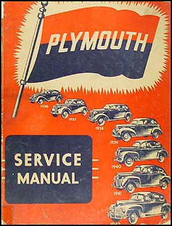 1936-1942 Plymouth Shop Manual Original for All Models