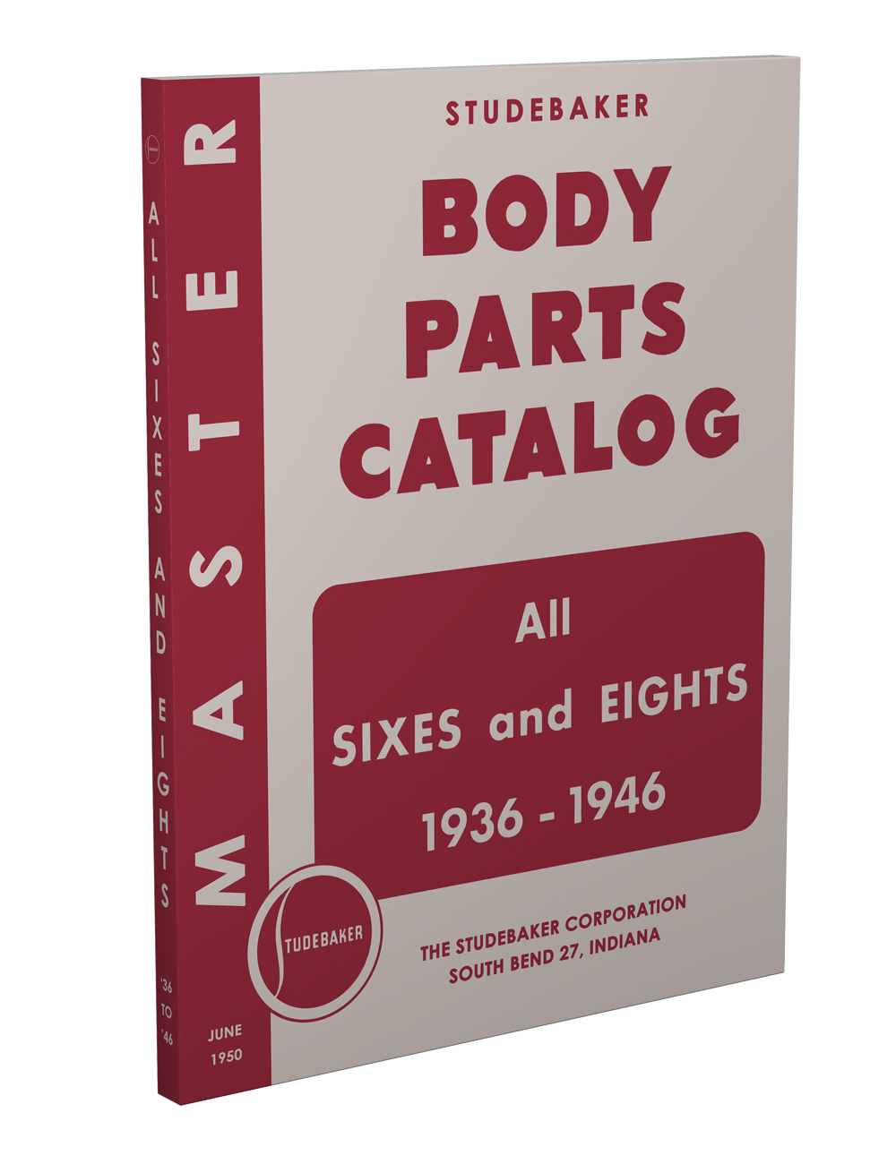 1936-1946 Studebaker Body Parts Book Reprint