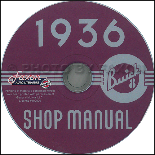 1936 Buick Repair Shop Manual on CD-ROM