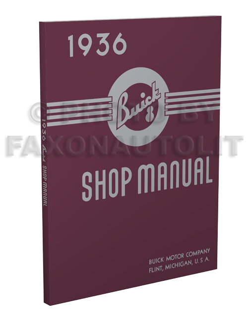 1936 Buick Shop Manual Reprint