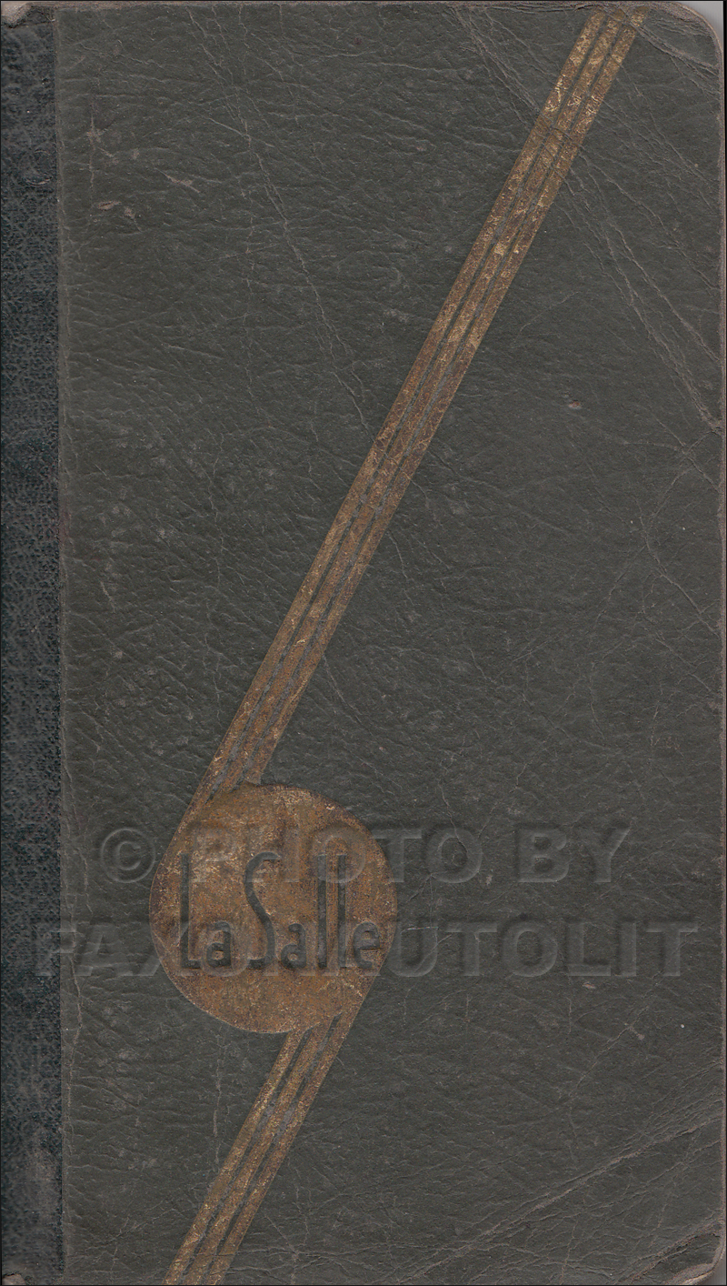 1936 Cadillac Lasalle Data Book Original