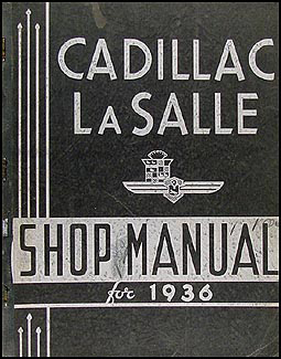 1936 Cadillac & LaSalle Shop Manual Original La Salle 36
