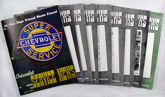 1936 Chevrolet Service News (9 issues) - 7 issues on '36, 2 on '37