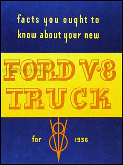 1936 Ford 1½ ton Truck Owner's Manual Reprint One-and-a-half-ton