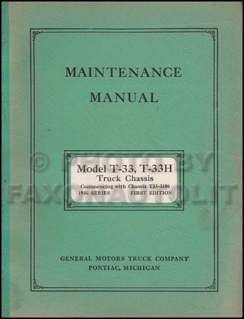 1932 GMC T-61 Truck 4 ton Repair Manual Original