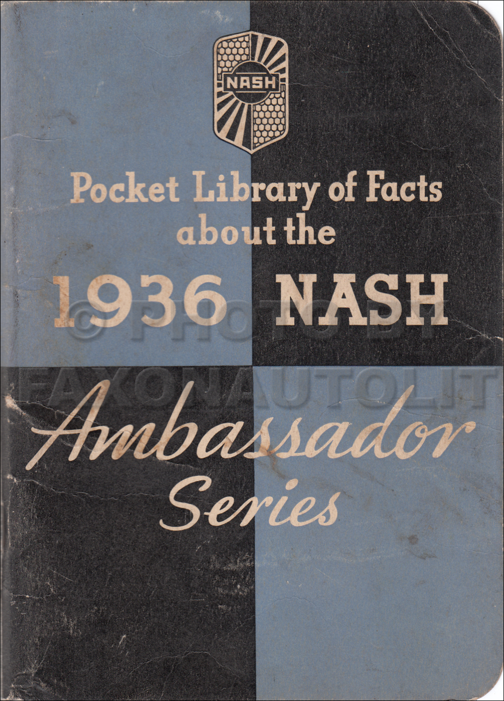1936 Nash Ambassador Facts Book Original