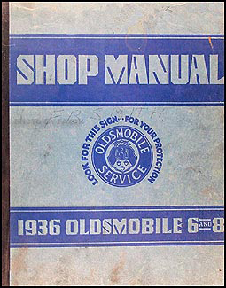 1936 Oldsmobile Repair Manual Original 8 1/2 x 11""