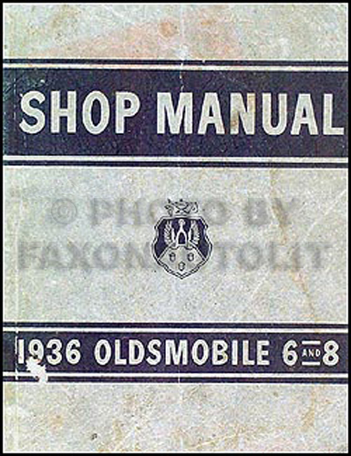1936 Oldsmobile Repair Manual Original 5 1/2 x 7""