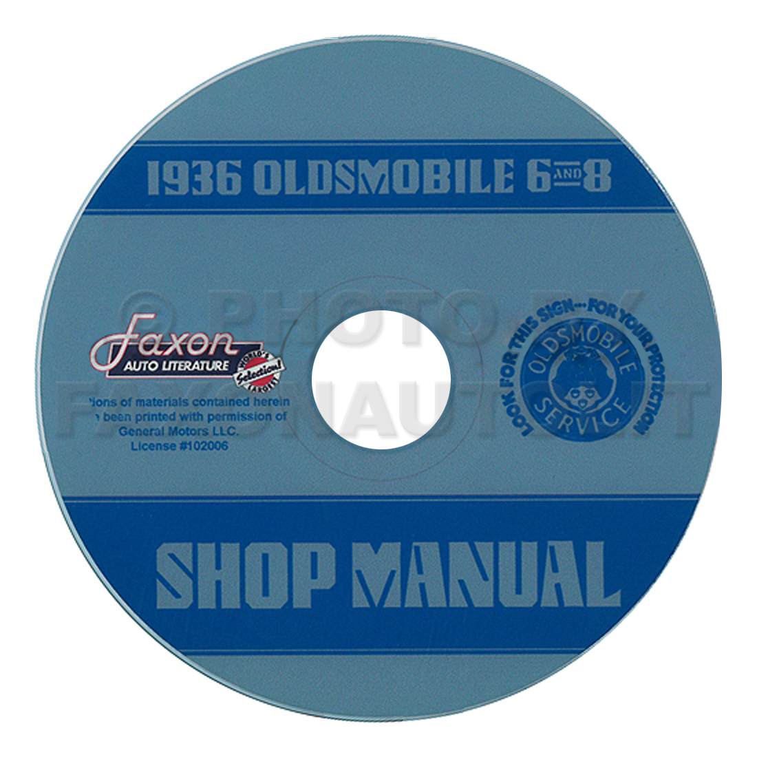 1936 Oldsmobile 6 and 8 CD-ROM Repair Shop Manual