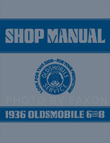 1936 Oldsmobile Repair Shop Manual Reprint