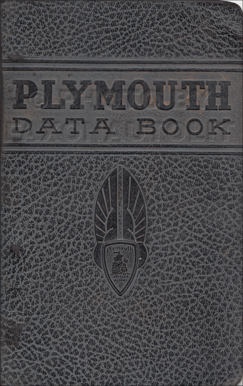 1936 Plymouth Data Book Original