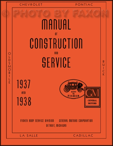 1937-1938 Pontiac Body Reprint Repair Manual