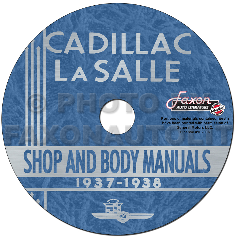 1937-1938 Cadillac & LaSalle CD-ROM Shop manual