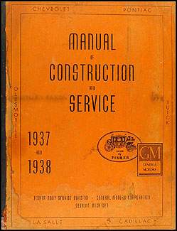 1937-1938 Pontiac Body Repair Manual Original