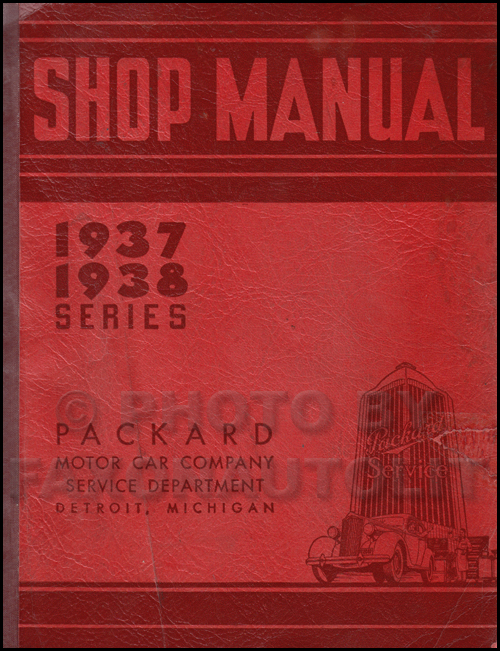 1937-1938 Packard Repair Shop Manual Original