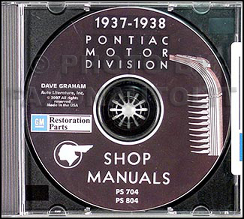 1937-1938 Pontiac CD-ROM Shop Manual