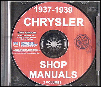 1937-1939 Chrysler CD-ROM Shop Manual