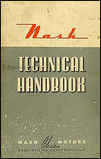 1937-1942 Nash Specs & Wiring Diagrams Technical Handbook Original