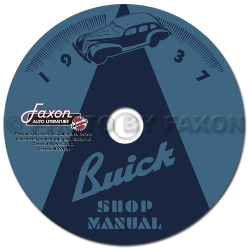 1936-1937 Buick Shop Manuals on CD-ROM