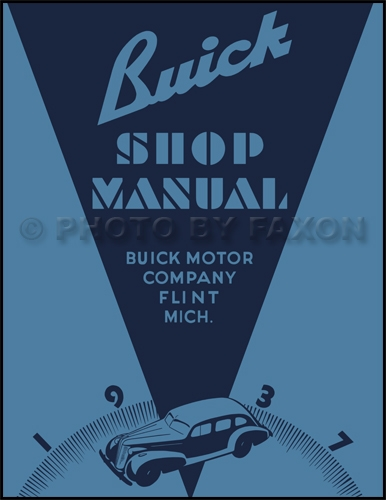 1937 Buick Shop Manual Reprint -- all models
