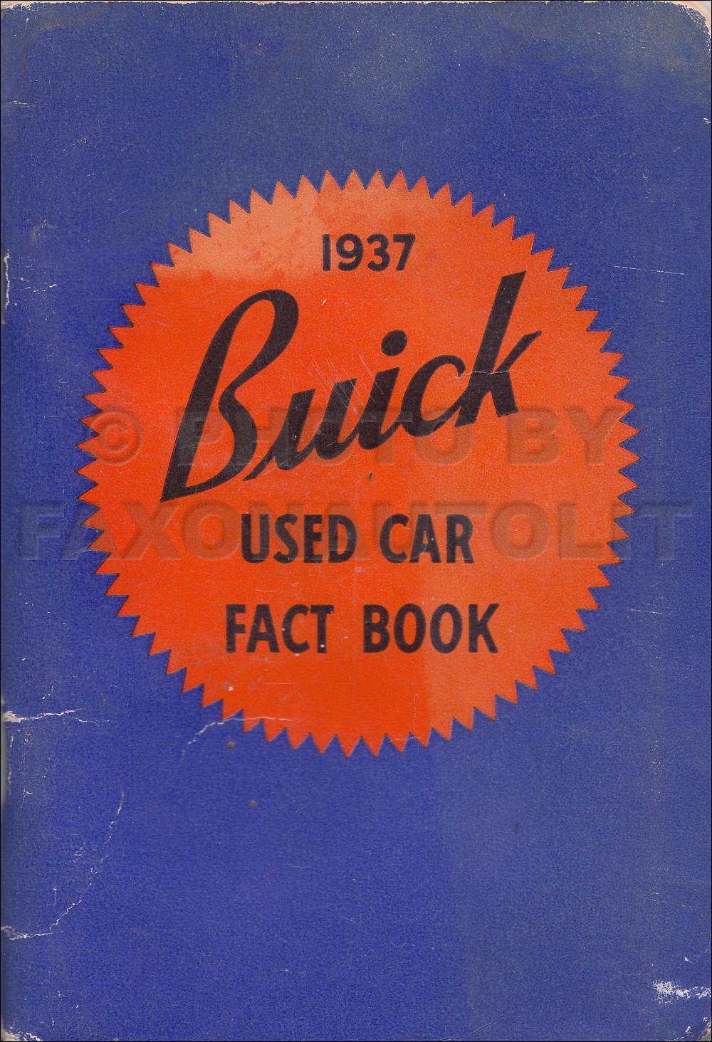 1937 Buick Used Car Data Book Original for 1932-1936 Cars
