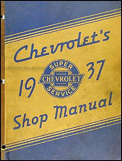 1937 Chevy CANADIAN Shop Manual Original