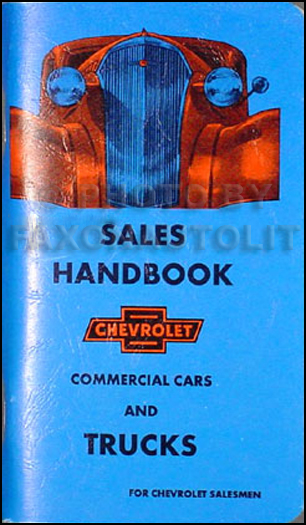1937 Chevrolet Pickup and Truck Data Book Reprint
