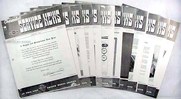 1937 Chevrolet Service News reprint (10 issues on 1937 & 2 on 1938)