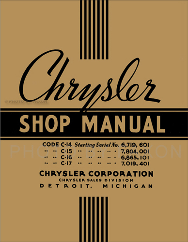 1937 Chrysler Shop Manual Reprint