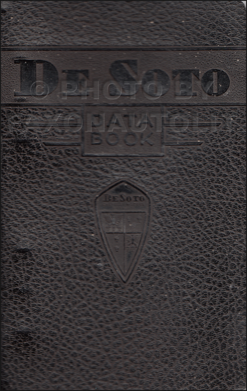 1937 Desoto Data Book Original