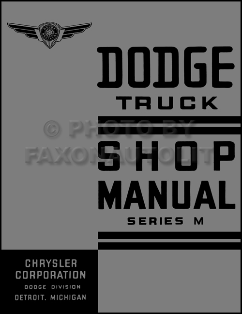 1937 Dodge Pickup and Truck Shop Manual Reprint