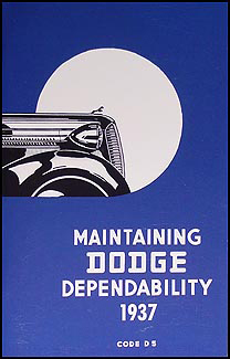 1937 Dodge Car Owner's Manual Reprint