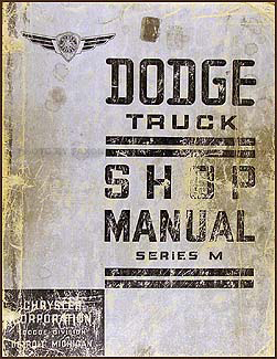 1937 Dodge Truck Shop Manual Original