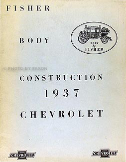 1937 Chevrolet ONLY Car Fisher Body Manual Original