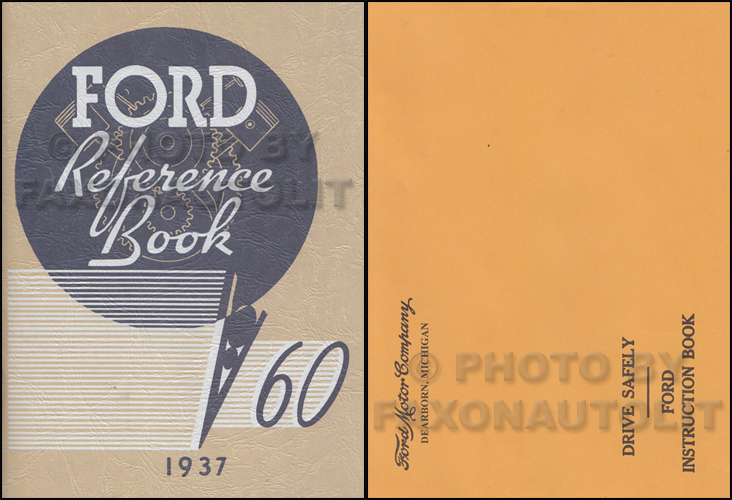 1937 Ford Car and Pickup Owner's Manual Reprint 60hp