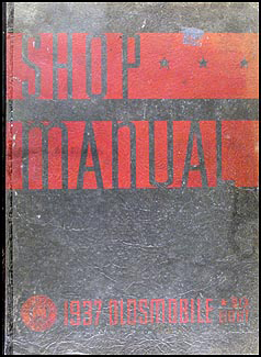 1937 Oldsmobile Repair Manual Original 8 1/2 x 11""