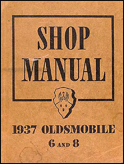 1937 Oldsmobile Repair Manual Original 5 1/2 x 7""