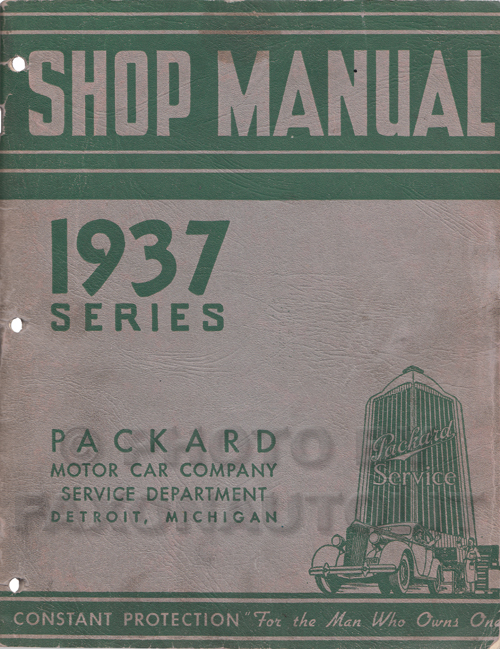 1937 Packard Repair Shop Manual Original