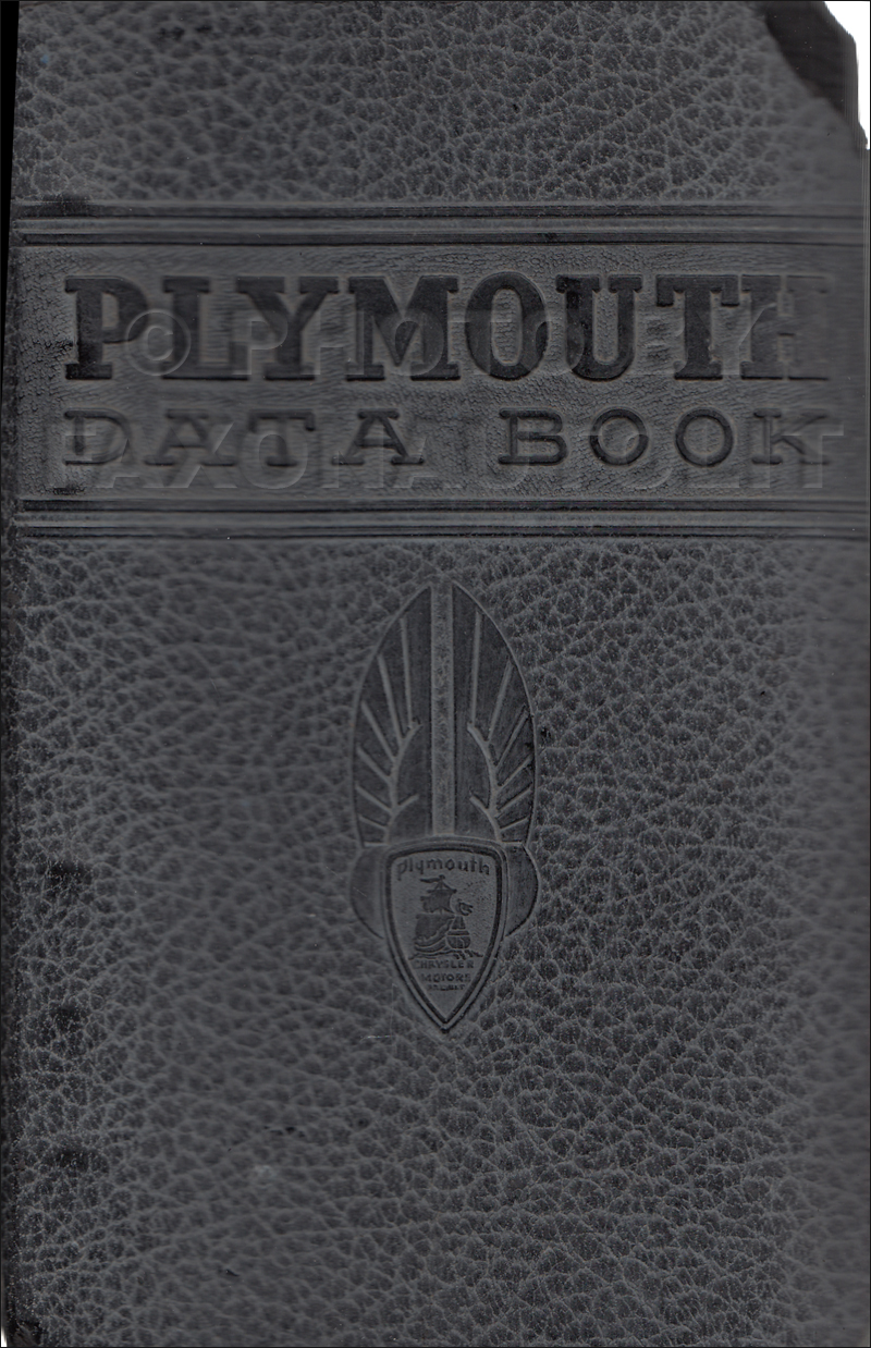 1937 Plymouth Data Book Original