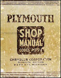 1937 Plymouth Shop Manual Original