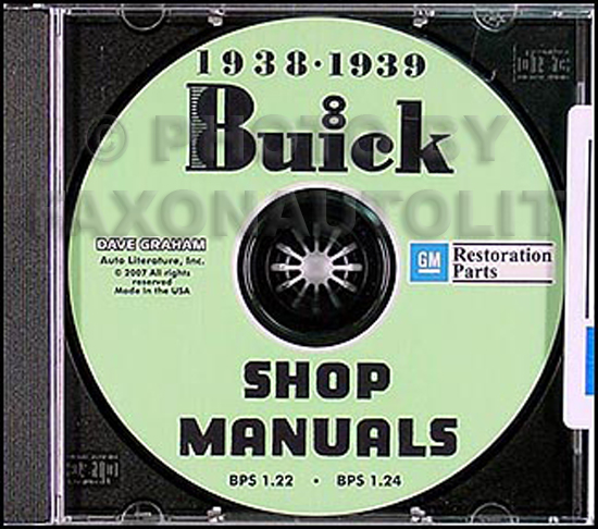 1938-1939 Buick CD-ROM Shop Manual
