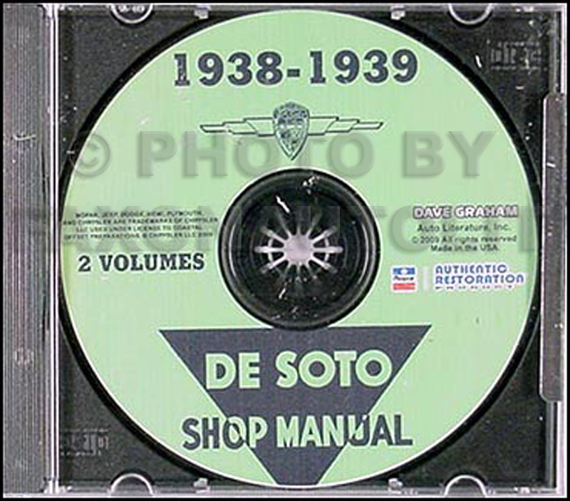 CD 1938-1939 De Soto Shop Manual