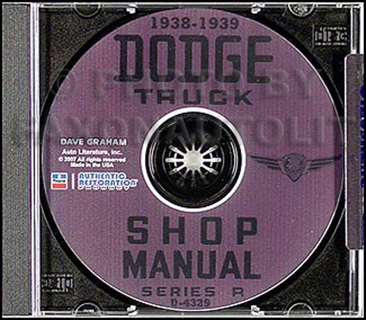 1938-1939 Dodge Pickup & Truck Shop Manual on CD-ROM