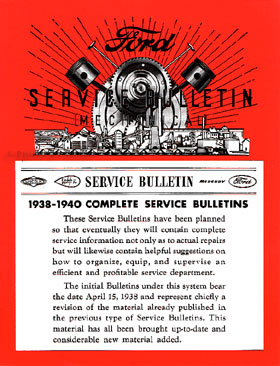 1938-1940 Ford Lincoln Mercury Service Bulletins Reprint