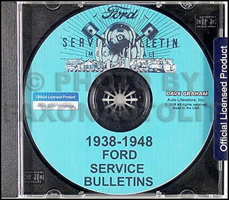 1938-1948 Ford Lincoln Mercury Service Bulletins Repair Shop Manual CD