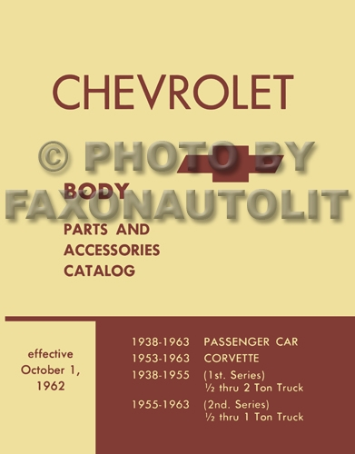 1957-1963 Chevrolet Body Parts Catalog Reprint