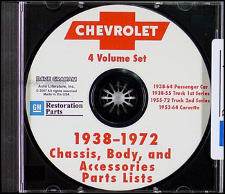 1957-1964 Chevrolet Parts Book on CD-ROM - cars, trucks, & Corvette